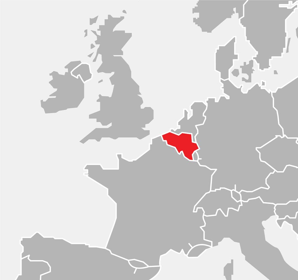 Mapka - Europa - Belgia