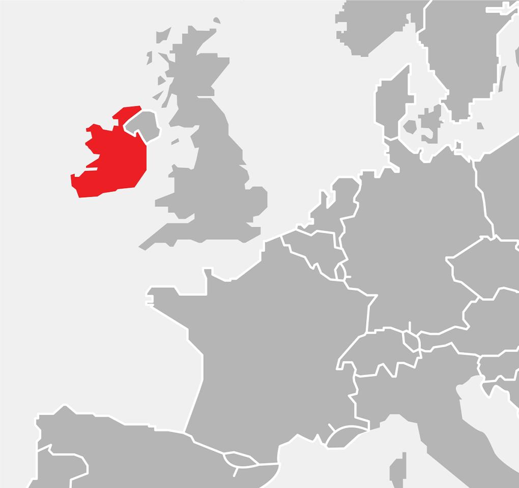 Mapka - Europa - Irlandia